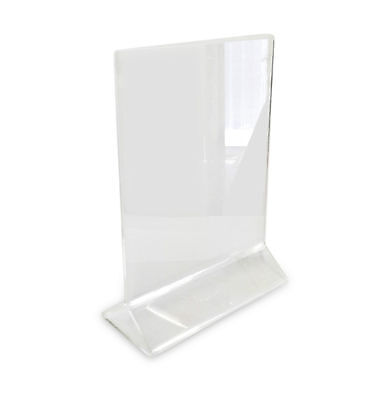 Acrylic Table Card Menu Holder Stand Restaurant 4 X 6 Th