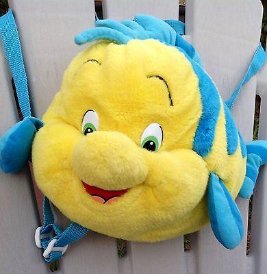 OMG JEMINI DISNEY ARIEL LITTLE MERMAID FLOUNDER PLUSH COSTUME PURSE BACKPACK BAG