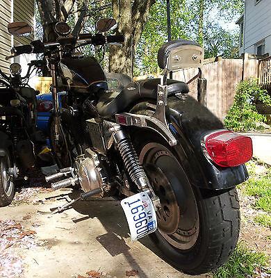 Harley Davidson Custom Black Rolled Vertical License Plate Bracket