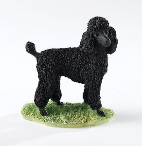 Border Fine Arts Black Poodle A24202 Standing Dog Figurine NEW IN BOX 15795