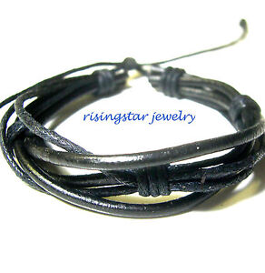 Handmade-Men-Multi-Hemp-Leather-Band-Fashion-Surfer-Biker-Hip-Bracelet-Wristband