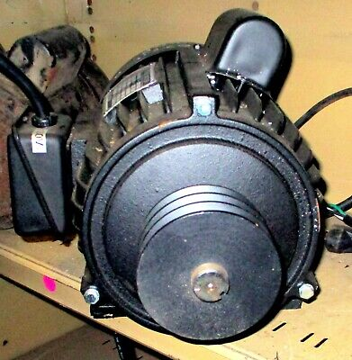 3 HP 1 PHASE MOTOR FROM 02210 LEFT TILT TABLE SAW-NEW MACHINE TAKE OFF W' PULLEY 3 Phase Table Saw