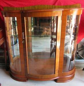 Antique Art Deco Mirrored Back, two shelf display cabinet C:1930 Brisbane City Brisbane North West Preview