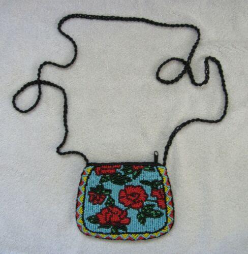 Lakota Teton Sioux Indian Beads Beaded Beadwork Shoulder Purse Bag Pouch