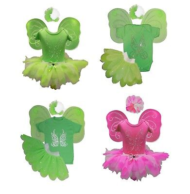 Tinkerbell Fairy Fancy Dress Costume Wings Sparkle Bling Baby Girl Toddler Cute](Cute Tinkerbell Costumes)