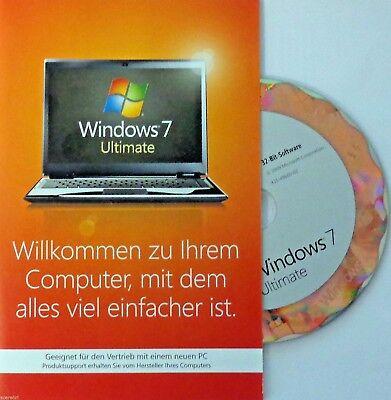 Microsoft Windows 7 ULTIMATE Vollversion(SB) 64bit✔DVD✔dauerhafte Lizenz✔Deutsch (Windows 7 Ultimate Vollversion)