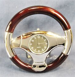 Steering Wheel Novelty Desk Clock Decorative Automotive Home Decor
