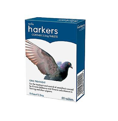 Harkers Coxi 50 Tabs Bird homing & Show Pigeons Coccidiosis Treatment