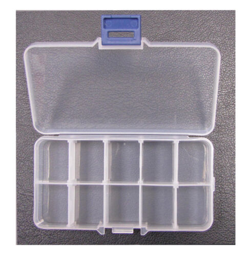 2-X-ACRYLIC-CLEAR-FALSE-NAIL-TIPS-EMPTY-STORAGE-BOX-CASE-BRAND-NEW-UK-SELLER