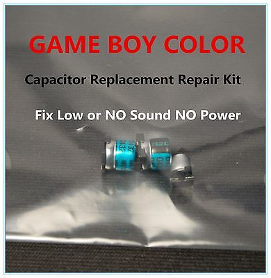 Game Boy Color Colour Capacitor Replacement Repair  Kit Fix Sound   No Power Us