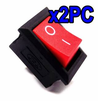 Quality 2PC 2Pin Switch On Off Rocker Switch Black Red Arcade +FP