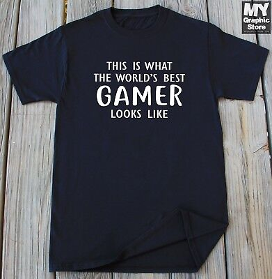 Gamer T-shirt Birthday Christmas Thanksgiving Gift Video Gaming Best Gamer (Best Thanksgiving Games Adults)