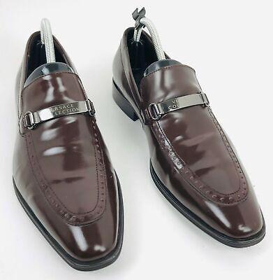 Versace Collection Men's Leather Oxford Dress Shoes w/ Buckle Brown Sz EUR 40