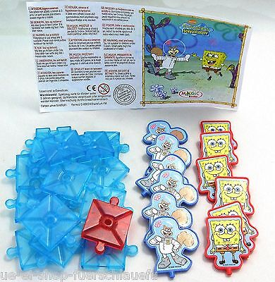Maxi Ei Spongebob 3 in einer Reihe S-3N-6 mit BPZ 2005 Kinder Freude Ferrero ()