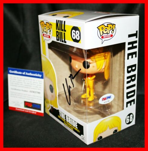 🔥 RARE UMA THURMAN SIGNED THE BRIDE KILL BILL AUTOGRAPH FUNKO POP PSA JSA 🔥