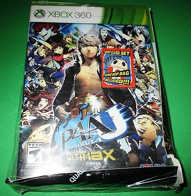 Xbox 360 Persona 4 Ultimax With Teddie Bag & Tarot Cards New!  Free Shipping!!