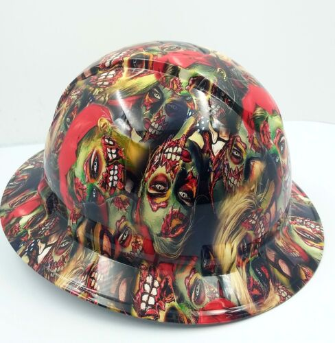 FULL BRIM Hard Hat custom hydro dipped , NEW COLOR ZOMBIE GIRLS SUPER HOT NEW 2
