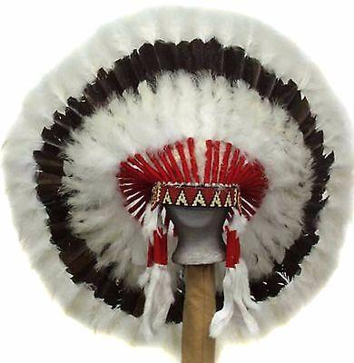 "Genuine Native American Navajo Indian headdress 36 inch ""WESTERN PLAINS"""