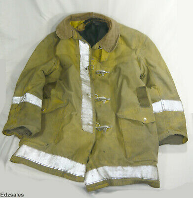 Globe Firefighter Firemen Turnout Gear Size 44 Protective Jacket Bunker Coat