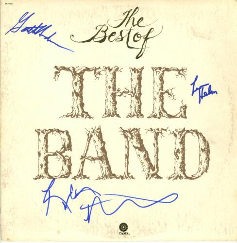 THE Band (Bob Dylan) SIGNED VINYL RECORD Islands, Hudon, Levon Helm, Robbie