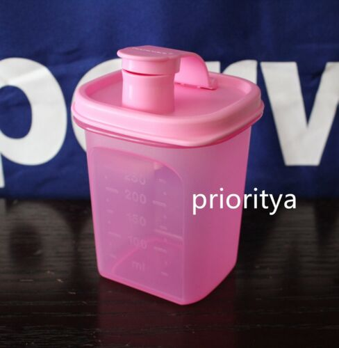 Tupperware Small Mini Slim Line Pitcher Modular Flip Top Lid Pink New in Package