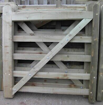 wooden field gate 3.6m wide x 1.2m high rough sawn