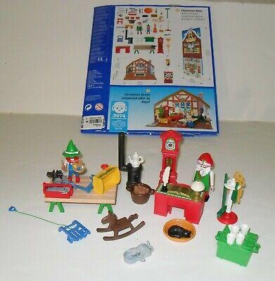 Playmobil #3974 Christmas Santa Work Shop Toys 1998 Advent Calendar 2 II Set
