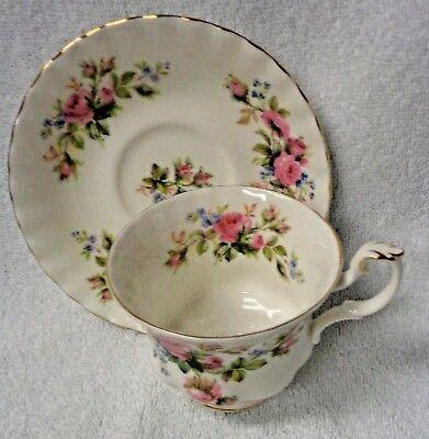 Royal Albert  Moss Rose  Cup  and Saucer