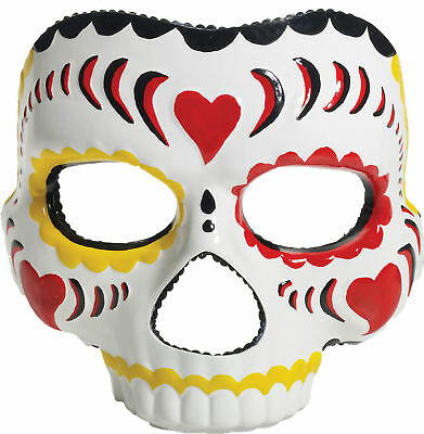 Day Of The Dead Female Adult Mask Realistic Colored Mexico Day Party Halloween](Halloween Mask Mexico)