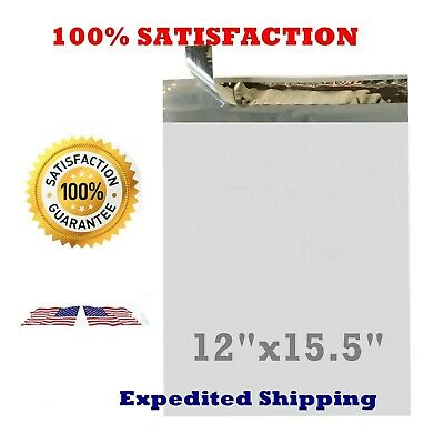 12x15.5 Poly Bag Plastic Envelopes Mailers Shipping Self Seal 100 500 1000 5000