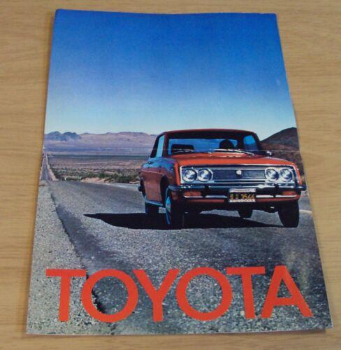 "1969 AUTOMOBILE Advertising Brochure~""TOYOTA""~Corolla Corona Crown Land Cruiser~"