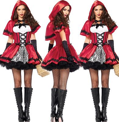 Adult Little Red Riding Hood Long Cape Party Fancy Dress Women Halloween Costume (Red Riding Hood Adult Costume)