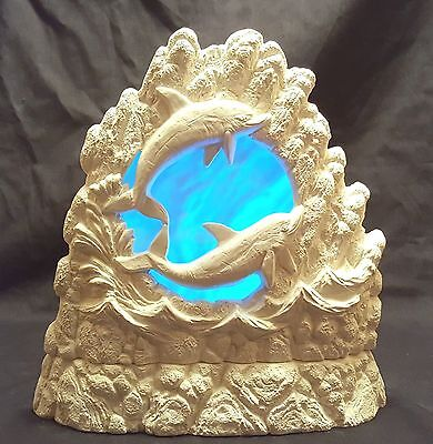 Nowell 2734 - Dolphin Rock - Lighted - Ready to Paint Ceramic Bisque