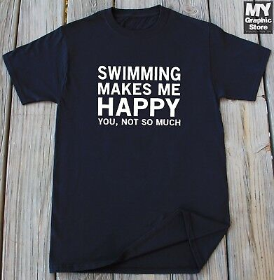 Swimming T-shirt Funny Swimming Gifts For Him Her Swimmer Coach Christmas