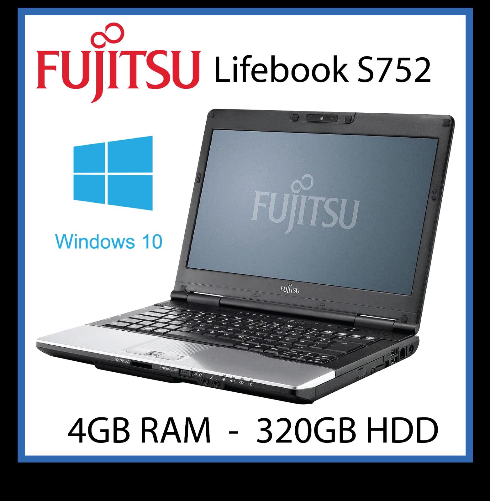 Laptop Windows - Cheap Laptop Windows 10 Fujitsu S752 Intel Core i5 3230m 3rd 2.6GHz 4GB 320GB
