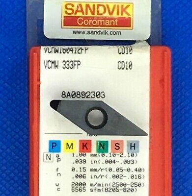 1 Pc Sandvik Vcmw 160412fp Vcmw 333fp Cbn Insert Grade Cd10 Machinist