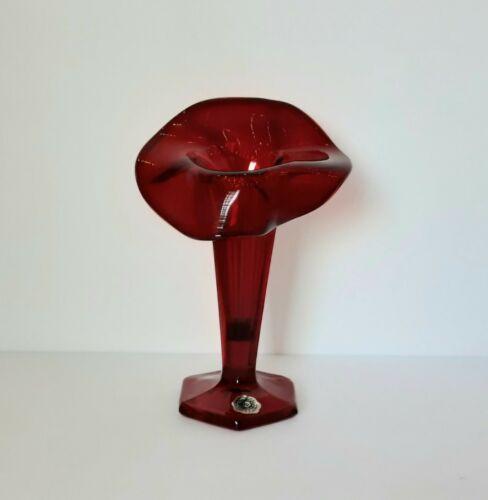 Vintage Ruby Red Jack in the Pulpit Vase