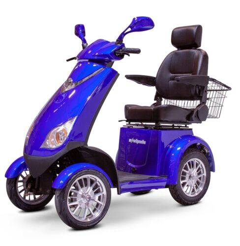 Blue Ewheels Ew-72 Fast 4 Wheel Mobility Scooter, Up To 15 Mph, 500 Lb