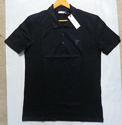 "VERSACE COLLECTION Polo Shirt for Men. Size XXL, 42"" Chest. BNWT. Black"