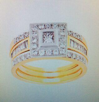 Stunning Wedding Ring Set Regents Park Logan Area Preview