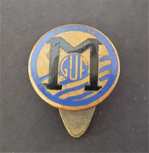 Italy Rowing Club Canottieri M GUF Mussolini Fascist University Group Pin Badge