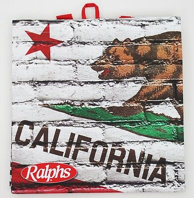 Ralphs Reusable Grocery Tote Bag California State Flag Grizzly Bear - California Tote Bag