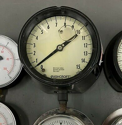 Ashcroft Duragauge 15 Psi 4.5 Pressure Gauge