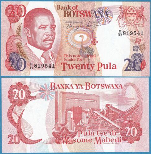 BOTSWANA ND(1993) 20 PULA P-13 Sig#6a GEM UNC  - US Seller