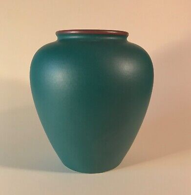 West Germany MCM Keramik Scheurich Matte Green Pottery Vase Planter 504-20