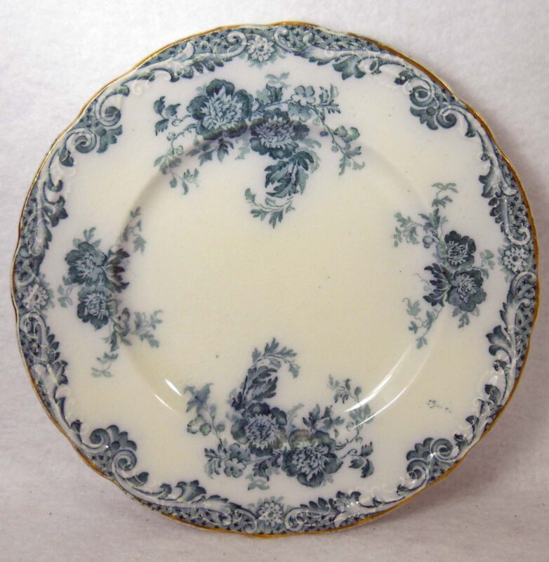 """ALFRED MEAKIN china GLENMERE Blue-Green pattern Dessert Plate - 6-3/4"""""""