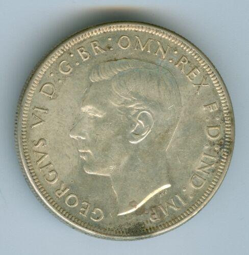 AUSTRALIA 1937 DOLLAR--AU/UNC--SILVER