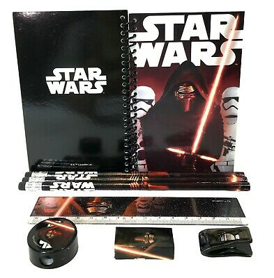 Star Wars Kylo Ren Stationary Set Back to School Supplies for Kids 8 Piece (Stationary For Kids)