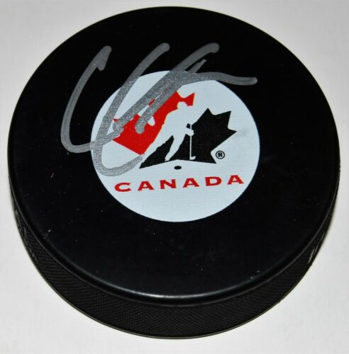 CODY GLASS signed (LAS VEGAS GOLDEN KNIGHTS) Team Canada hockey puck W/COA