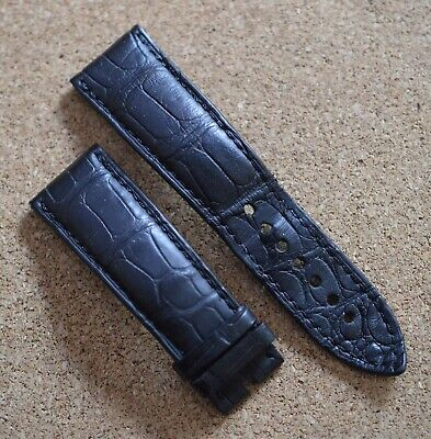 Blancpain Black Alligator 23mm 23/20 Strap Band For Fifty Fathoms
